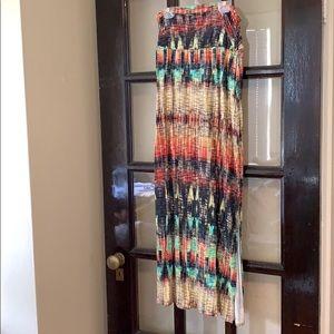 Anthropologie Weston multicolored maxi skirt
